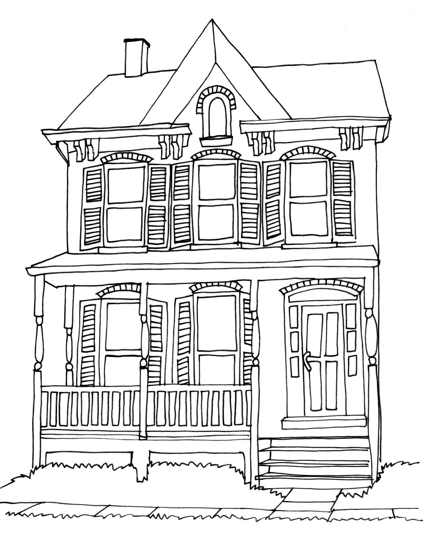 Line Art Images Of Houses : Love paper vintage a from by leya